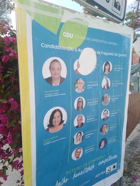 Jornal Campeão: CDU da Figueira da Foz com propaganda vandalizada em Quiaios