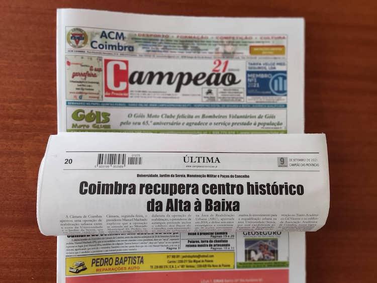 Jornal Campeão: Coimbra recupera centro histórico  da Alta à Baixa