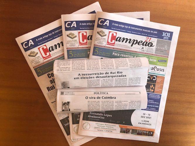 Jornal Campeão: Análise das eleições por Carlos Fiolhais e Jaime Ramos