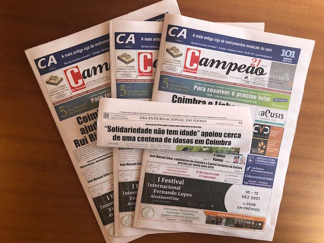 """Jornal Campeão: """"Solidariedade não tem idade"""" apoiou cerca de uma centena de idosos em Coimbra"""