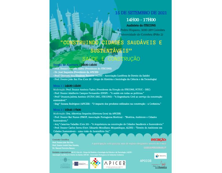 """Jornal Campeão: Itecons recebe colóquio """"Construindo Cidades Saudáveis e Sustentáveis"""""""