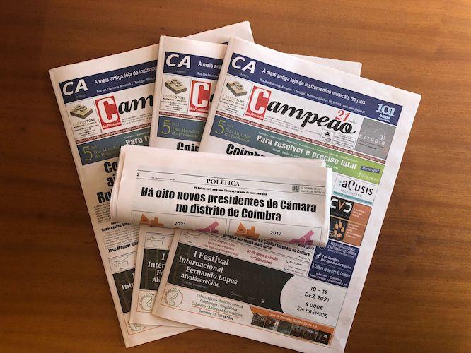 Jornal Campeão: Há oito novos presidentes de Câmara no distrito de Coimbra