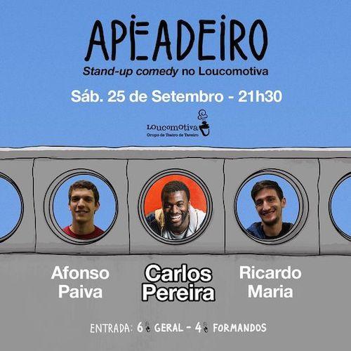 Jornal Campeão: Teatro Loucomotiva em Taveiro recebe espectáculo Stand-up Comedy