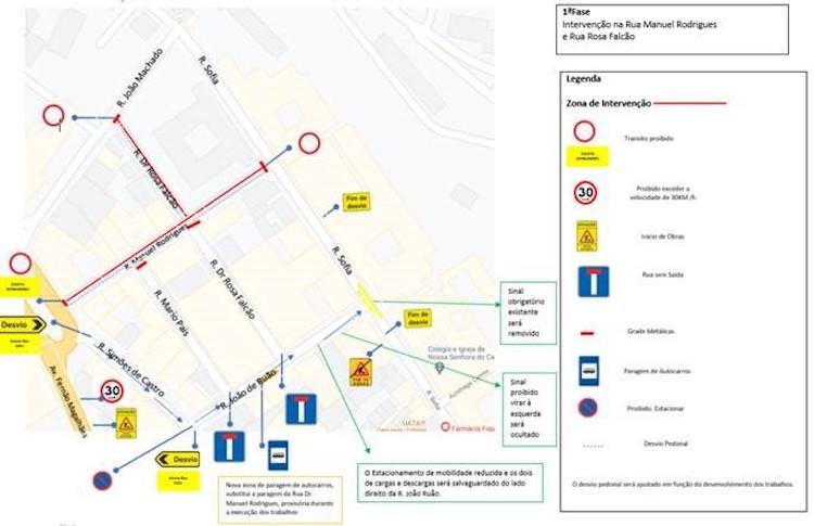 Jornal Campeão: Rua Doutor Manuel Rodrigues interdita ao trânsito para obras de requalificação