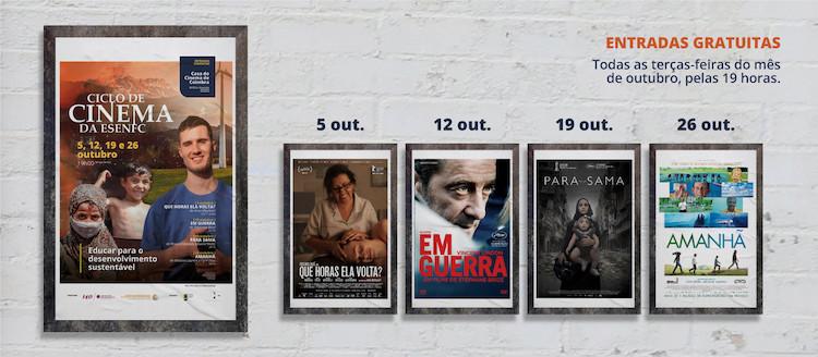"""Jornal Campeão: ESEnfC organiza ciclo de cinema """"Educar para o desenvolvimento sustentável"""""""