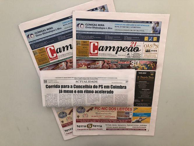 Jornal Campeão: Corrida para a Concelhia do PS de Coimbra já mexe e em ritmo acelerado