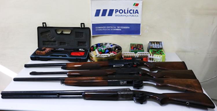 Jornal Campeão: PSP de Coimbra apreende várias armas e munições