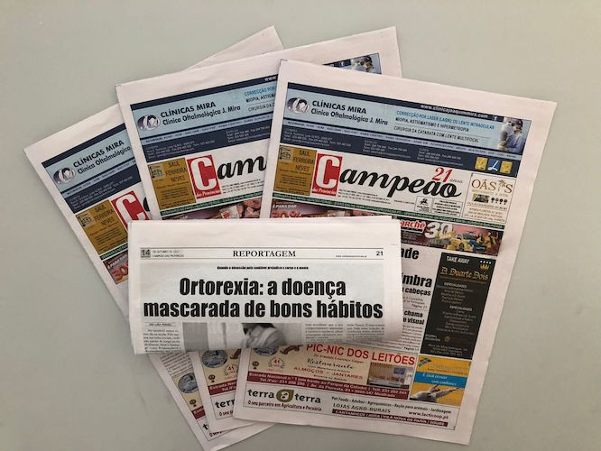 Jornal Campeão: Ortorexia: a doença  mascarada de bons hábitos