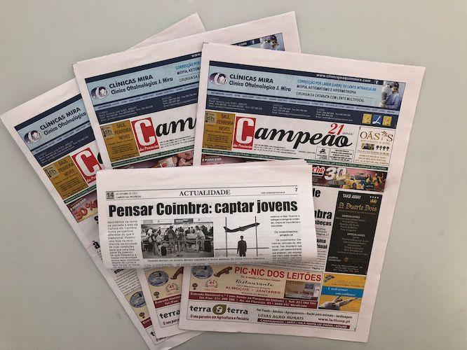 Jornal Campeão: Pensar Coimbra: captar jovens