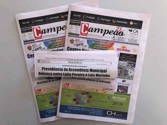 Jornal Campeão: Presidência da Assembleia Municipal balança entre Lídia Pereira e Luís Marinho