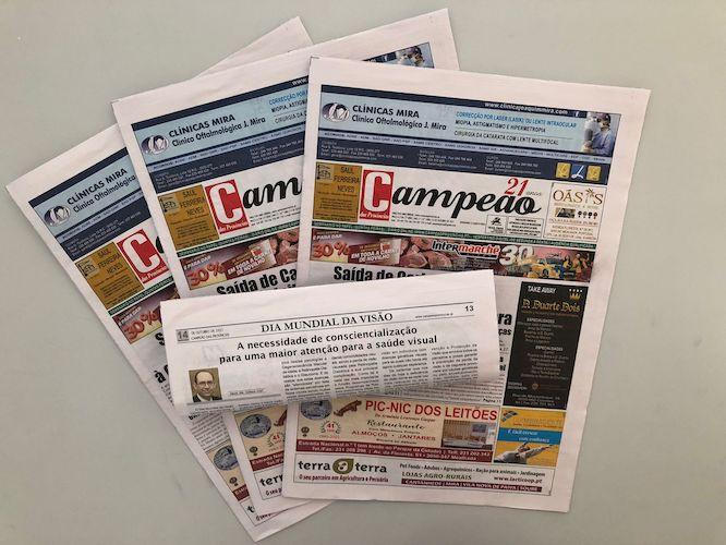 Jornal Campeão: A necessidade de consciencialização para uma maior atenção para a saúde visual